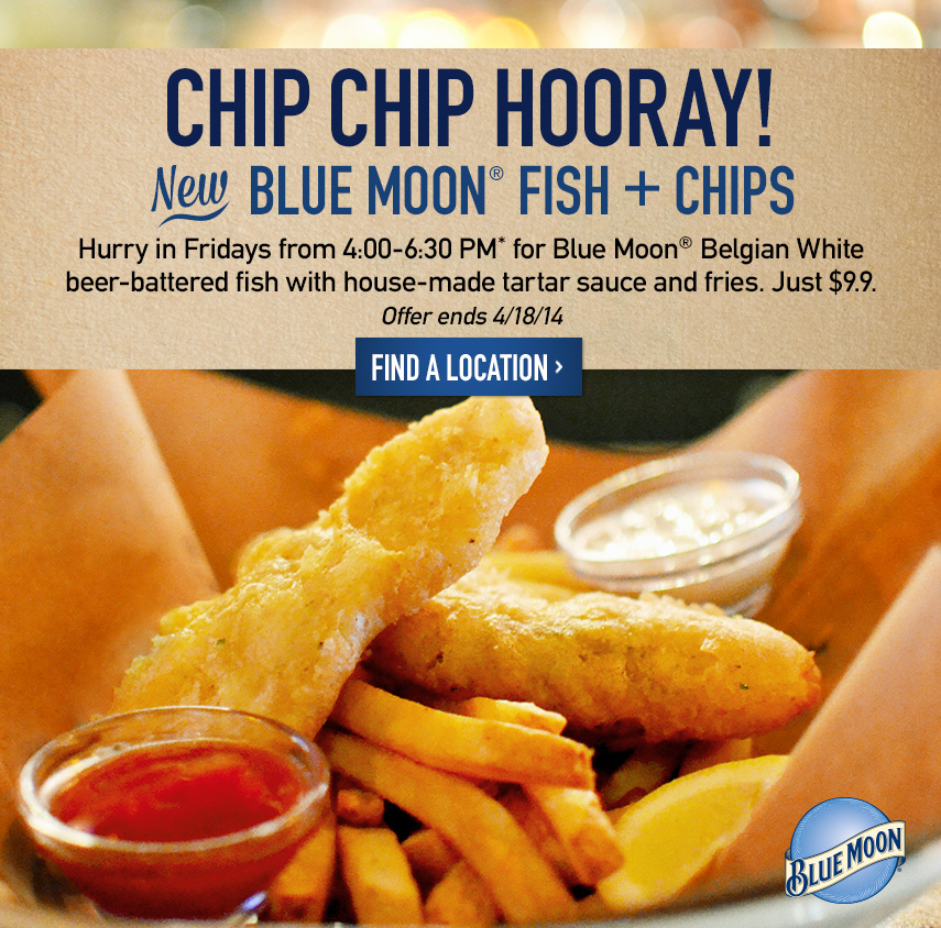 Blue Moon Fish + Chips