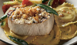 Wood-Grilled Swordfish over Pumpkin Ravioli