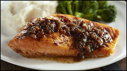 Atlantic Salmon + Bacon Jam Butter