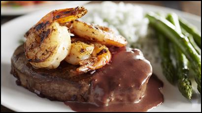 Malbec Marinated Steak + Shrimp