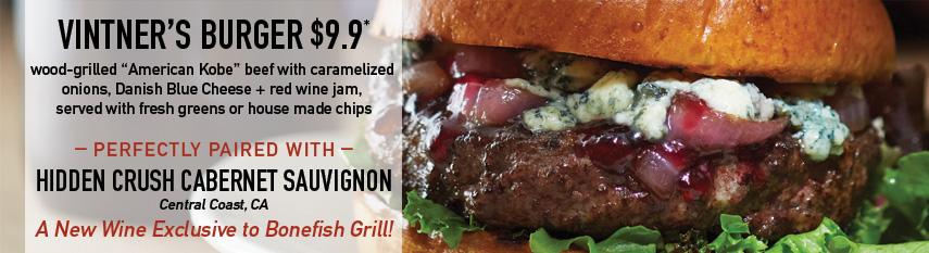 Vintner's Burger $9.9