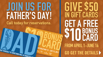 Buy $50 in Gift Cards, Get a $10 Bonus Card