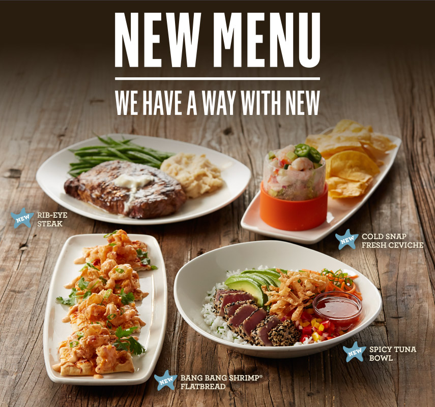 NEW MENU. We have a way with new.