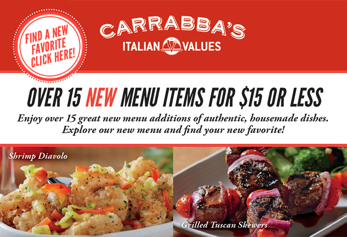 OVER 15 NEW MENU ITEMS FOR $15 OR LESS