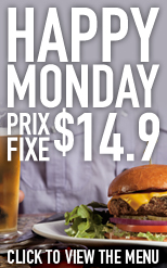 Monday Prix Fixe
