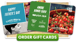 Purchase Carrabba's Restaurant Gift Cards - Click Here