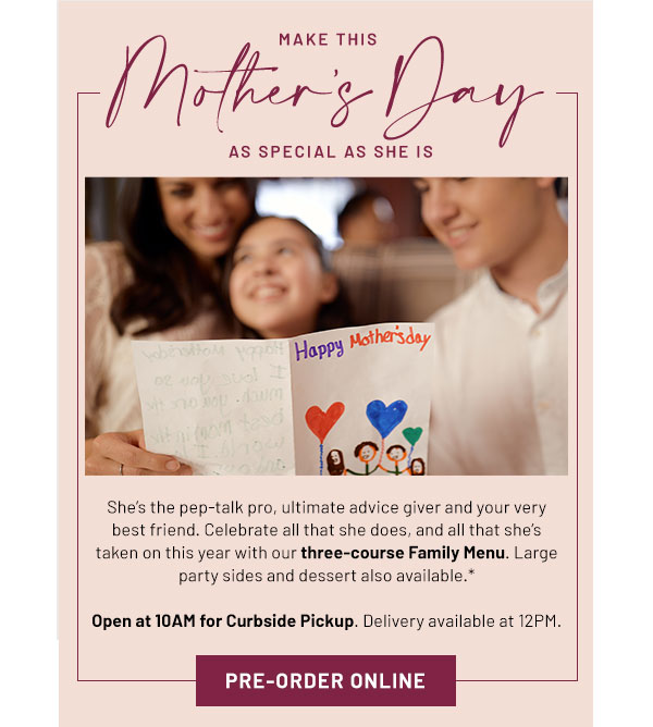 Make this Mother's Day special - Learn More