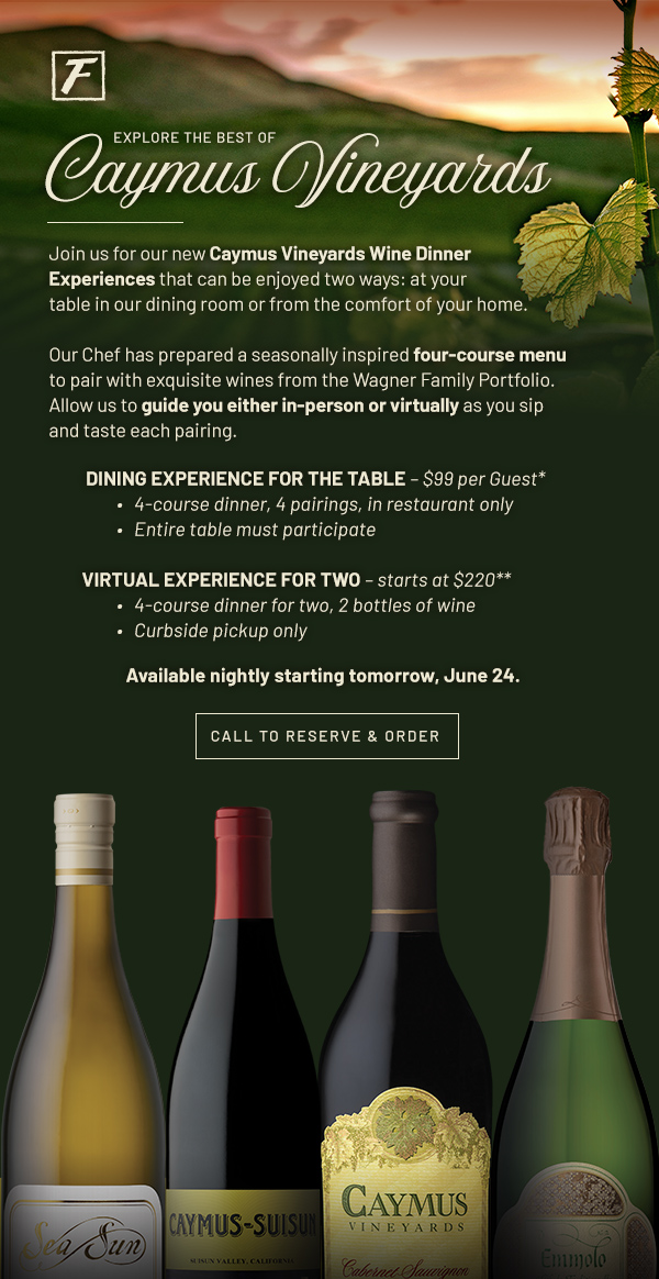 Caymus Vineyards Wine Dining Experiences - Learn More