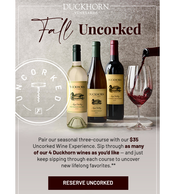 Fall uncorked - learn more