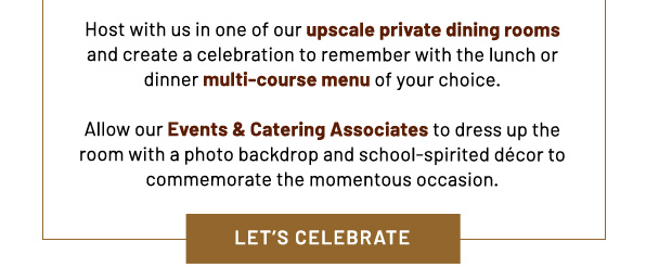 Let's celebrate - learn more