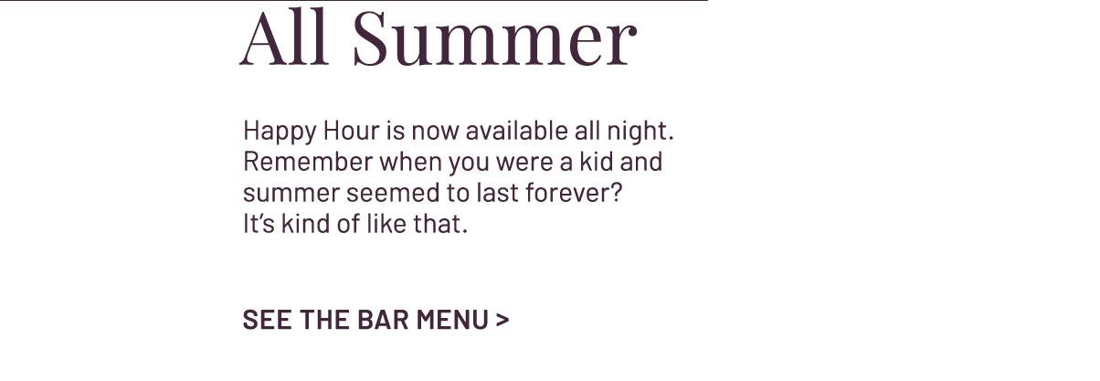 See the Bar Menu